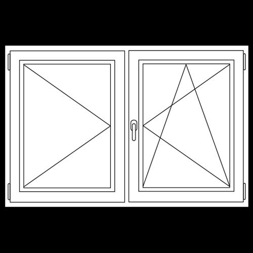 PVC Draai / kiep - draai stolp raam