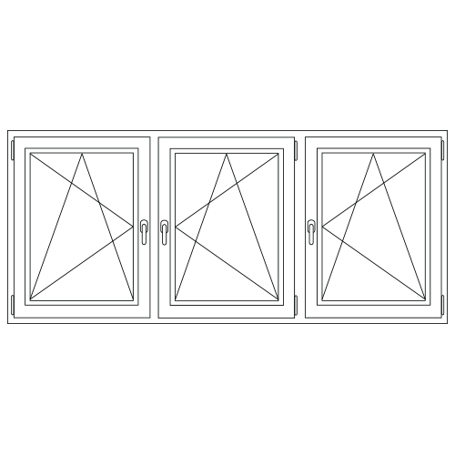 Aluminium Draai/kiep - Draai/kiep - Draai/kiep kozijn