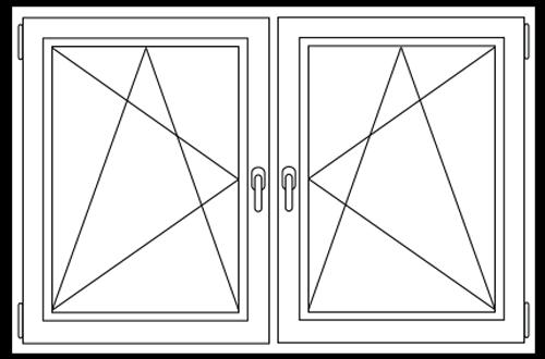 PVC Draai / kiep -  Draai / kiep raam
