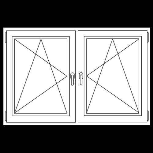 Aluminium draai / kiep - draai / kiep raam