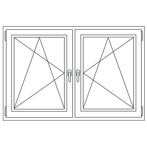 Aluminium draai / kiep - draai / kiep kozijn