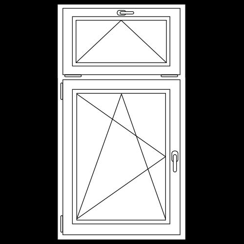 Draai / kiep raam met bovenlicht (kiep)