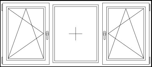 PVC Draai / kiep - vast - draai / kiep raam