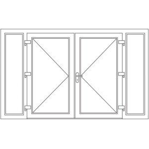 Dubbele deur met zijlichten
