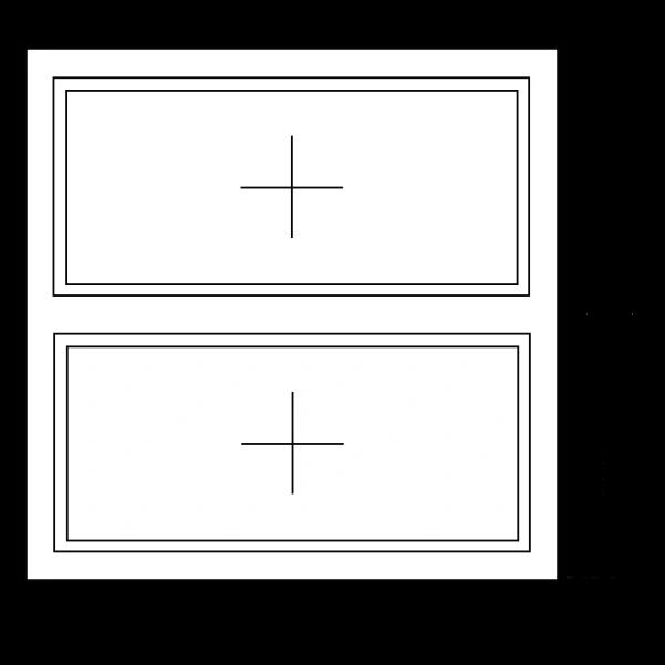Aluminium vast - vast kozijn (horizontaal)