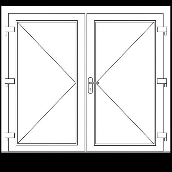Aluminium dubbele deuren