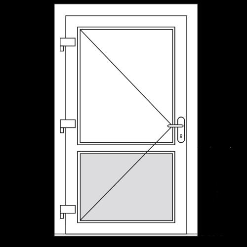 Aluminium deur (2 vaks)