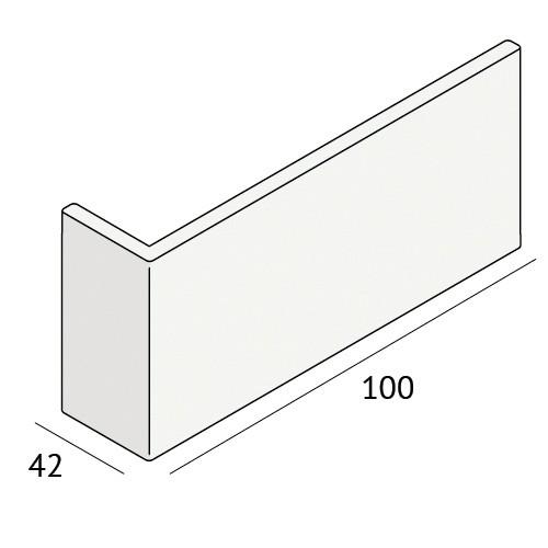 Dagkant hoekpanelen 7mm 100x42