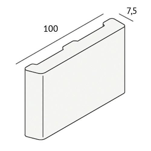 Dagkant plint 100x7,5