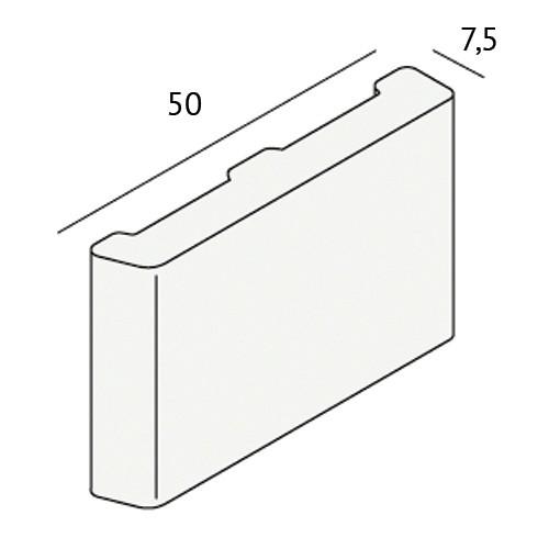 Dagkant plint 50x7,5