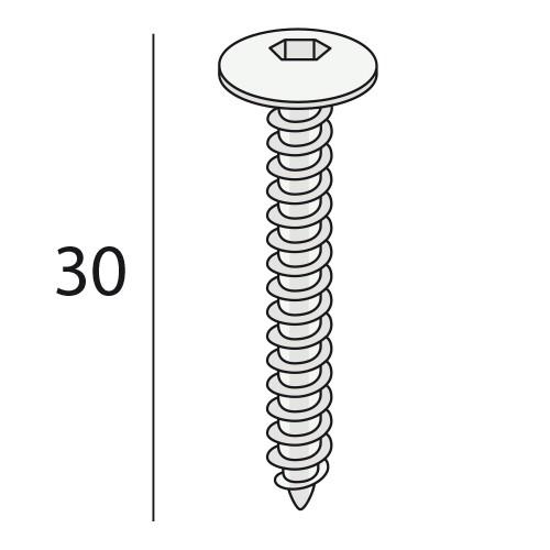 Keralit schroef Torx (T20)