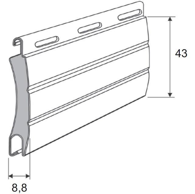Lamellen pakket PA43