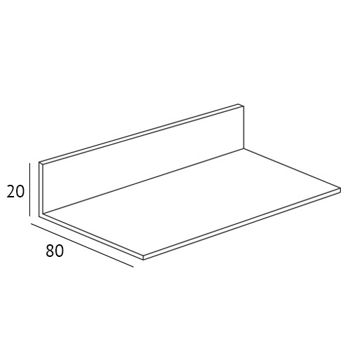 Valse vensterbank 80 x 20 mm doorsnede