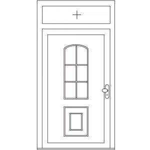 Voordeur met bovenlicht vast