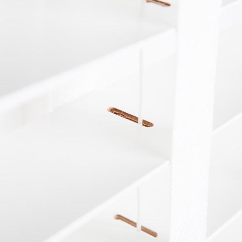 Zijkant houten jaloezie met band zoom